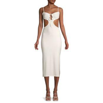 Платье с вырезом спереди и завязками WeWoreWhat