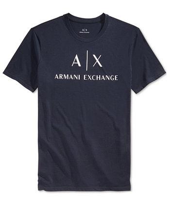Мужская футболка с графическим принтом и логотипом Armani Exchange