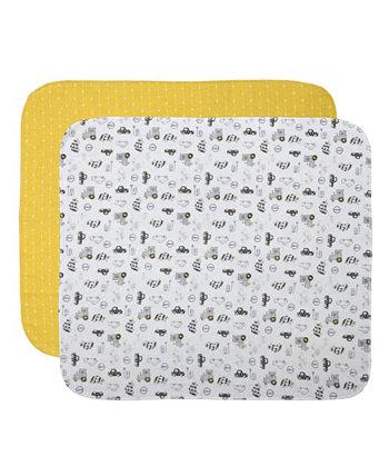 Фланелевое одеяло для приема Cuddle & Cribs, 2 шт. В упаковке Cuddles & Cribs