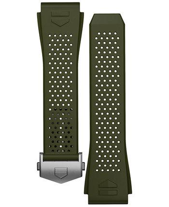 Мужские часы Connected со сменным зеленым каучуковым ремешком, 45 мм TAG Heuer