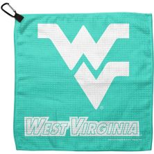 """WinCraft Green West Virginia Mountaineers 13"""" x 13"""" Pastel Waffle Golf Towel Unbranded"""