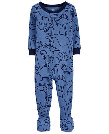 Цельнокроеная пижама из хлопка с принтом динозавра для маленьких мальчиков Carter's