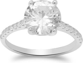 Серебряное кольцо-браслет Luxe Sparkler CZ Solitaire с инкрустацией и камнями Gabi Rielle