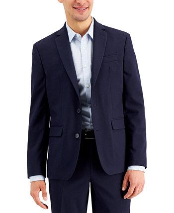 Мужской темно-синий однотонный пиджак облегающего кроя INC, созданный для Macy's INC International Concepts