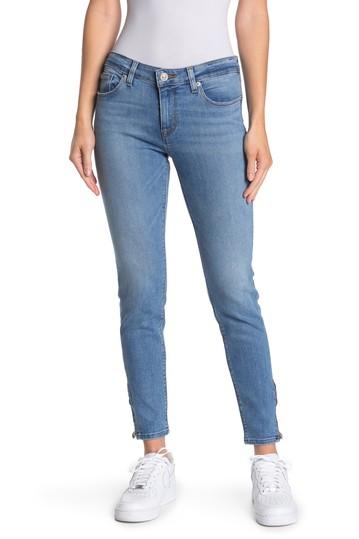 Джинсы скинни с заниженной талией и молнией до щиколотки Krista Hudson Jeans
