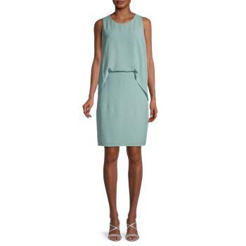 Solid Overlay Dress Halston Heritage