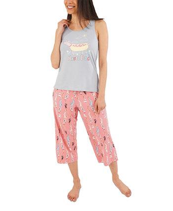 Пижамный комплект с капри Haute Dog Munki Munki