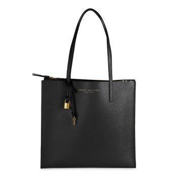 Шлифованная кожаная сумка с короткими ручками Marc Jacobs
