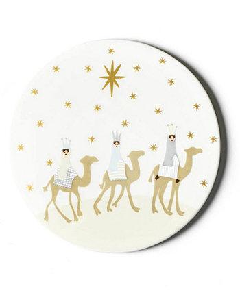 Круглая подставка для Рождества Христова Coton Colors