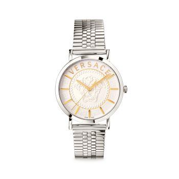 Часы V Essential из нержавеющей стали с браслетом Versace