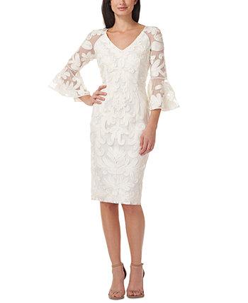 Платье с расклешенными рукавами с сутажной отделкой JS Collections