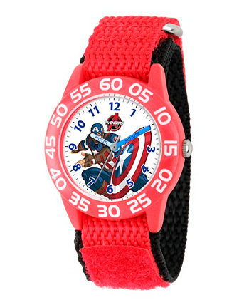 Marvel's Avenger Assemble: красные пластиковые часы для учителей Captain America Boys Ewatchfactory