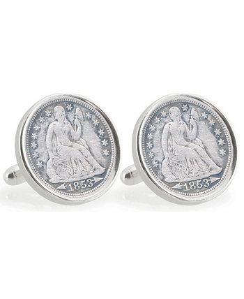 Флоридский университет Запонки за 10 центов из чистого серебра American Coin Treasures