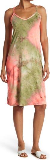 Миди-платье с принтом тай-дай и бретельками COZY ROZY