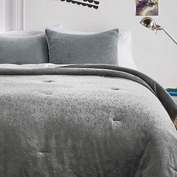 Dream Factory Star Plush Comforter Set Dream Factory