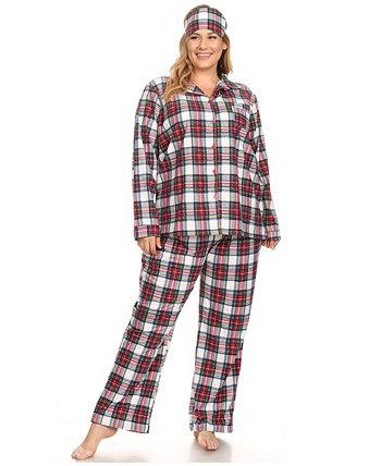 Плюс размер 3-х частей пижамы набор White Mark
