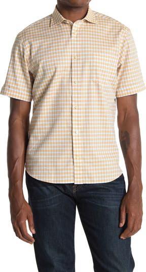Рубашка обычного кроя с короткими рукавами и клетчатым принтом Thomas Dean