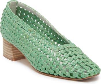 Туфли-лодочки на блочном каблуке из плетеной кожи Loirane Miista