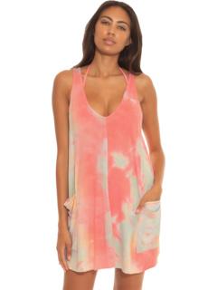 Платье трапециевидной формы с кружевом Tide Pool, накидка BECCA by Rebecca Virtue