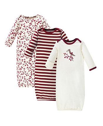Платье для малышек из органического хлопка, 3 шт. В упаковке Touched by Nature