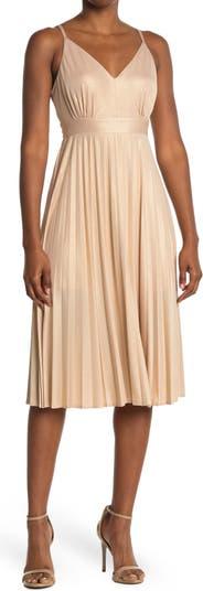 Платье миди со складками и блестками KENEDIK