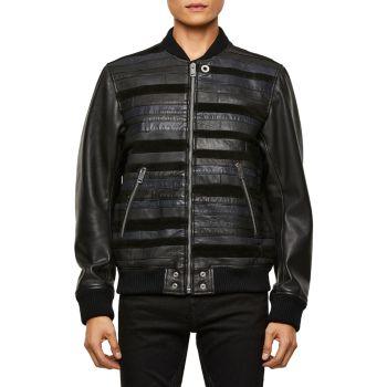 Кожаная куртка-бомбер Roger Mix Media Diesel