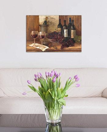 """Картина Албены Христовой """"Винтажное вино"""" на холсте в упаковке (26 x 40 x 0,75) ICanvas"""