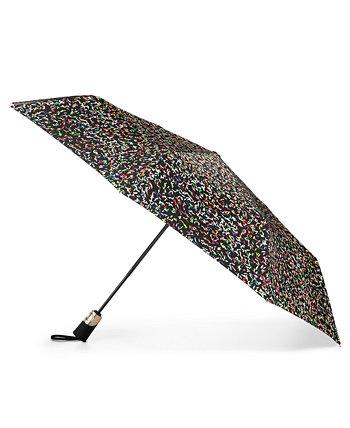50-летний юбилей 3-секционный автоматический открытый-закрытый зонтик Totes