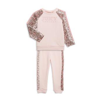 Little Girl's 2-Piece Snake-Print Sweatshirt & Joggers Set Juicy Couture