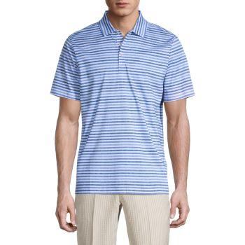Рубашка для гольфа из мерсеризованного хлопка в полоску BUGATCHI