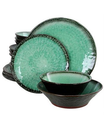 Набор столовой посуды с двойной чашей Green Lantern из 16 предметов Gibson