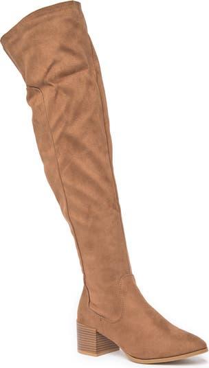 Catherine Block Heel Over-the-Knee Boot Wild Diva Lounge