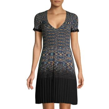 Knit Short-Sleeve Dress M Missoni