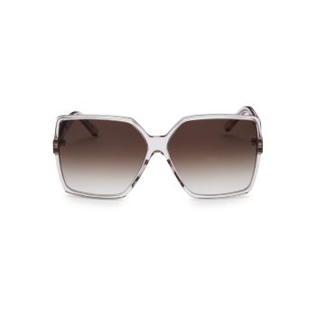 Квадратные солнцезащитные очки из ацетата New Wave 232 Betty 63 мм Saint Laurent