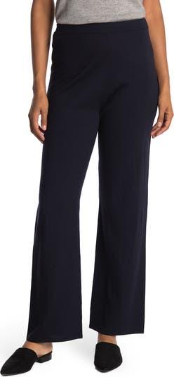 Укороченные брюки из однотонного трикотажа из смесовой шерсти St. John Collection