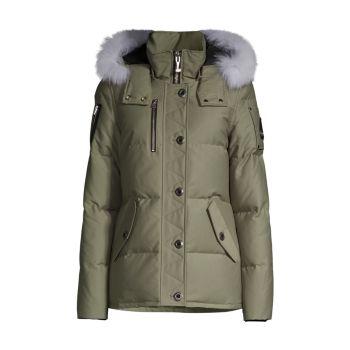 Стеганая куртка 3Q с меховой отделкой из лисы Moose Knuckles