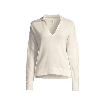 Кашемировый пуловер с матросским воротником Minnie Rose