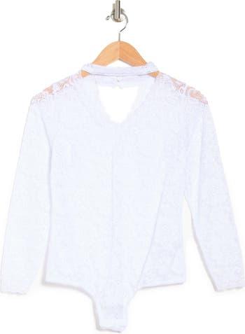 SECRET LACE Allover Lace Bodysuit Just One