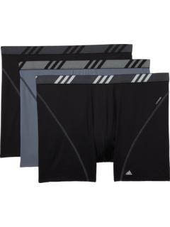 Big & Tall Sport Performance Mesh Boxer Brief Underwear 3-Pack Adidas