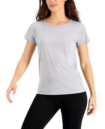 Женская футболка с круглым вырезом, созданная для Macy's Ideology