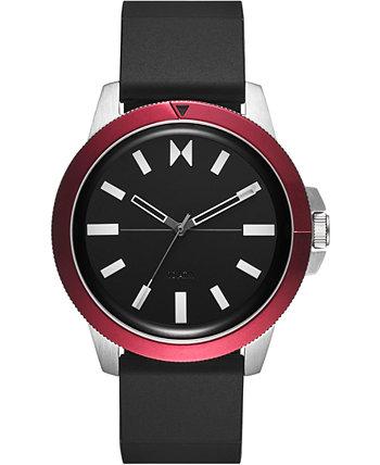 Мужские часы Minimal Sport с черным силиконовым ремешком 45 мм MVMT