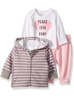 Флисовые джоггеры Ultimate Flexy с круглым вырезом и флисовым худи (для младенцев) Hanes Ultimate Baby