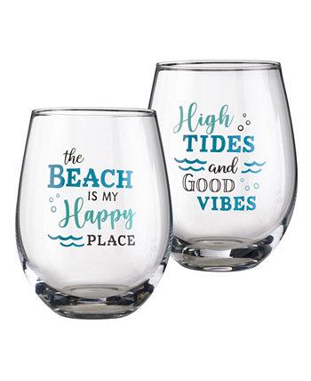 Бокал для вина At The Beach Life, 2 шт. Lillian Rose