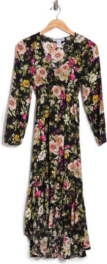 Макси-платье Hi-Lo с длинными рукавами Cotton Emporium