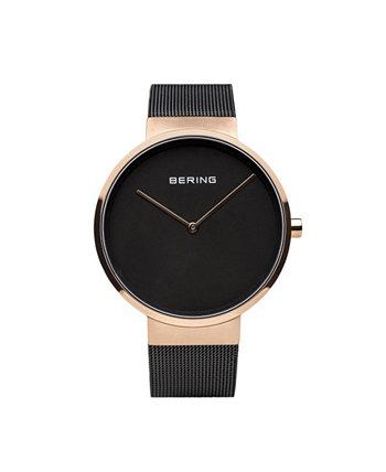 Мужские классические часы из нержавеющей стали и сетчатые часы Bering