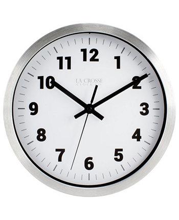 Часы La Crosse 404-2626 10-дюймовые металлические аналоговые настенные часы La Crosse Technology