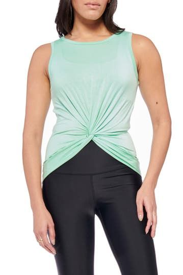Keep It Up Twist Front Tank Electric Yoga