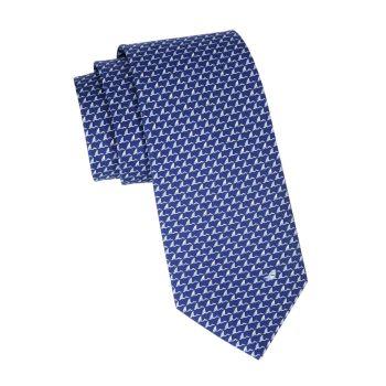 Шелковый галстук с акульим плавником Salvatore Ferragamo