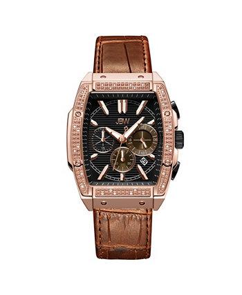 Мужские наручные часы Echelon Diamond (1/4 карат. Вес.) Из 18-каратного розового золота, нержавеющая сталь 41 мм JBW