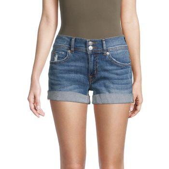 Ruby Mid-Rise Denim Shorts Hudson